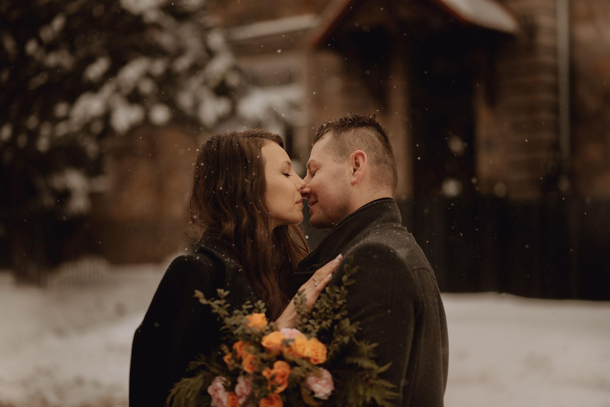 zimowa sesja dla pary00001 - Miłość