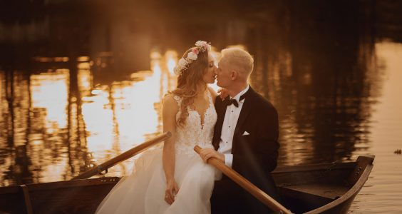 Sesja ślubna przy Pałacu Suchary